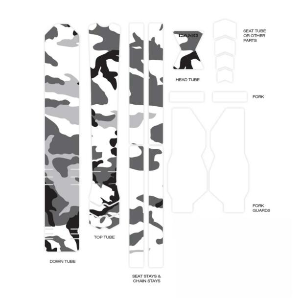 UNIVERSAL Frame Protection Stickers - Mod. CAMO