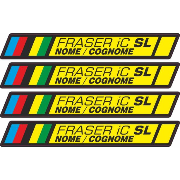 Name/Surname stickers for handlebar Syncros Fraser IC SL 4 pcs